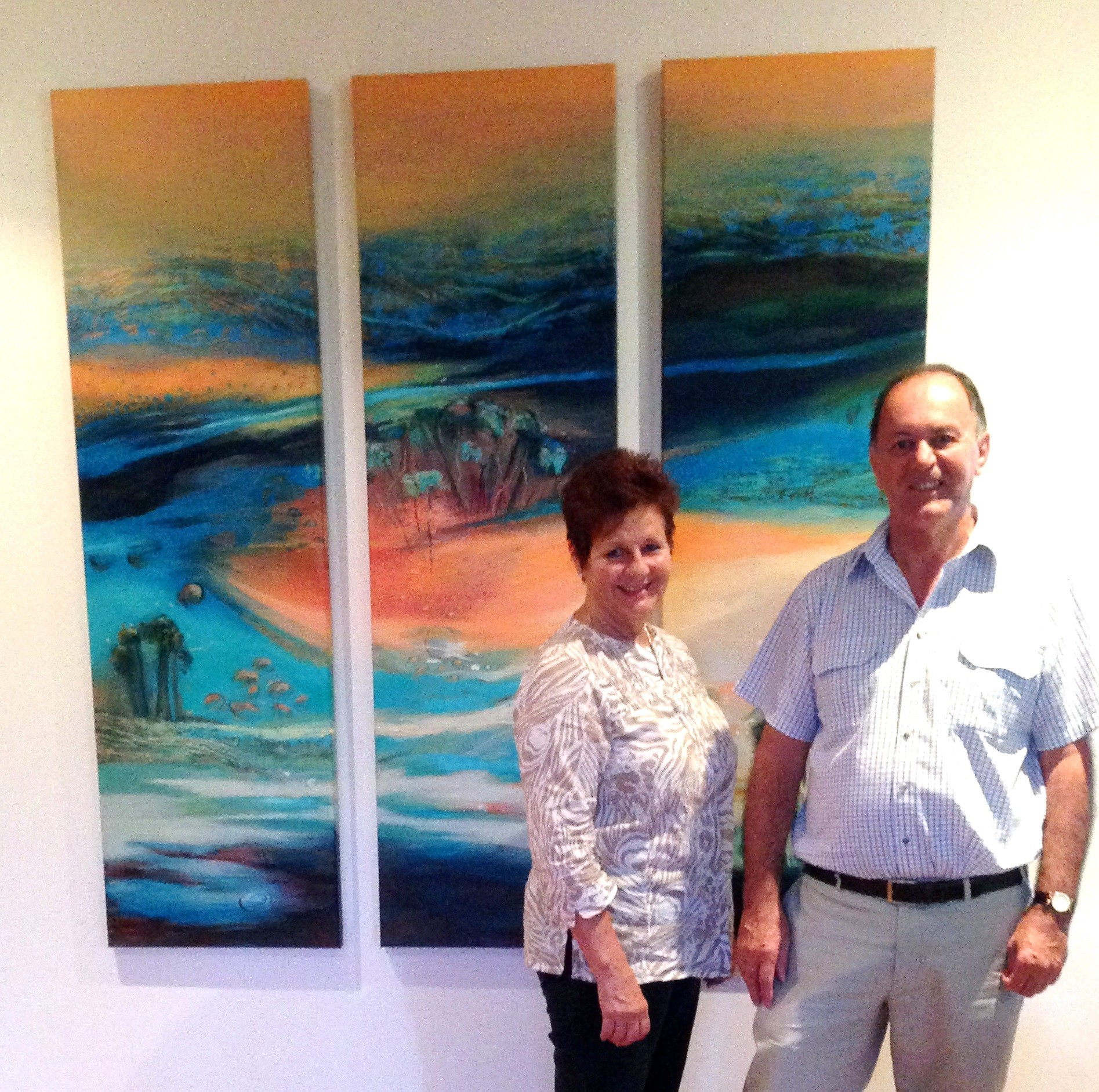 Clients with paintings