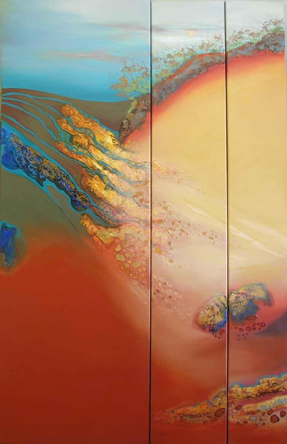(SING)Scatterings 96x150cm - Triptych $3300