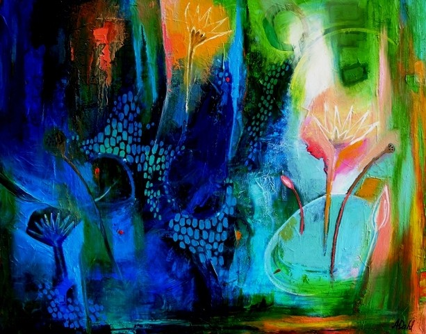 (SOLD)I came upon a Lilly - 115x90cm - $3500