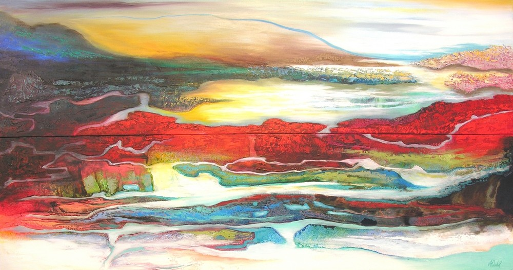 (SOLD)Lakes of the Mind - 40x150x2 $6800 - Copy