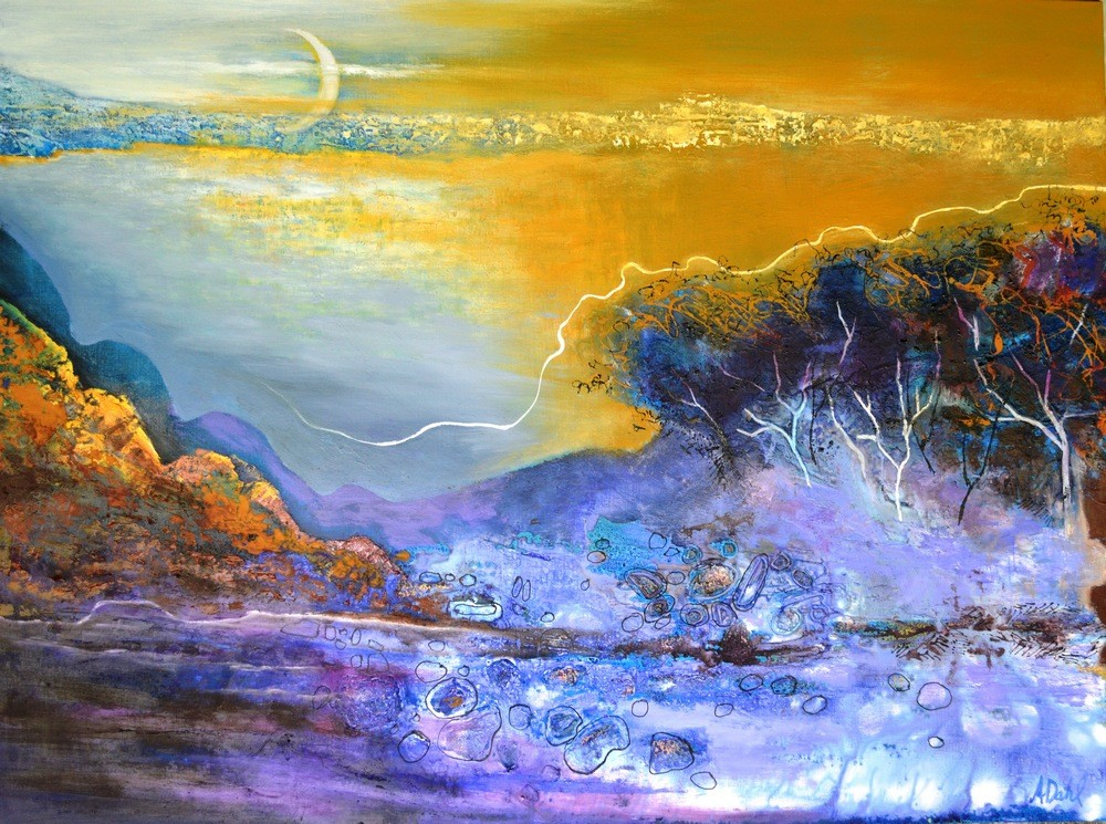 (SOLD)The Moon Exposes All - 120X90 $4900