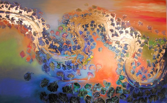 (SOLD)The River of Abundance Overflows - 151x244cm - $19,900