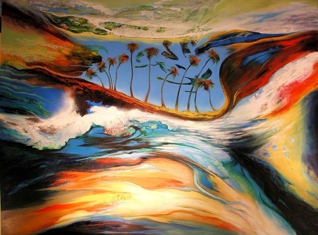 SOLDThe Tempest - 244x183cm $21,000 -