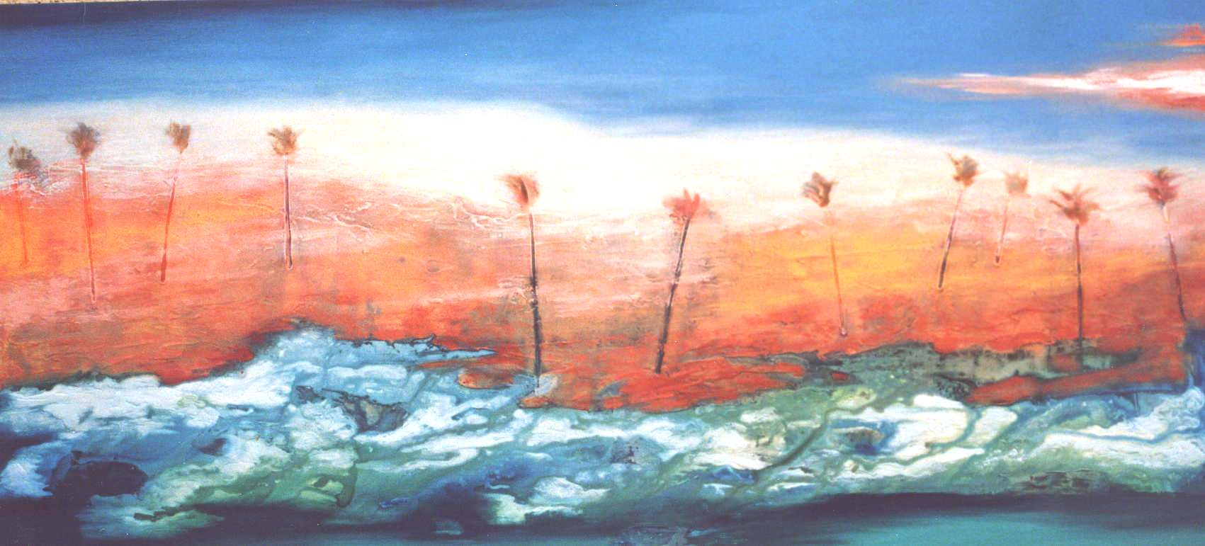 Windy Shoreline - 86x186cm - $4300
