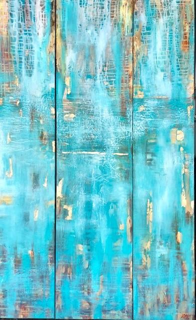 (web)River Reflections - Triptych 90x170cm -