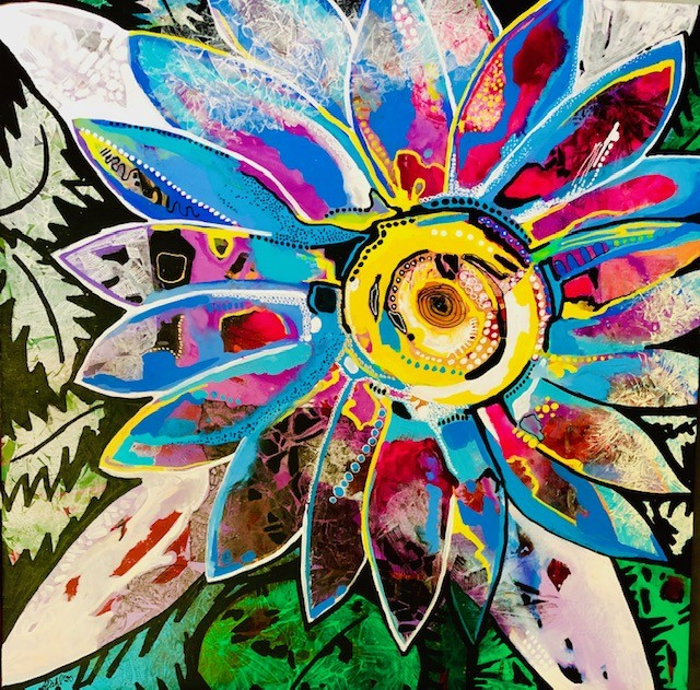 (web)SUNSHINE FLOWER 117x117 $6500